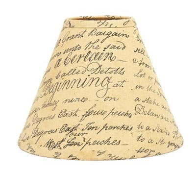 This Indentured Lamp Shade - 6 inch