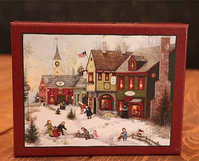 cobblestone holidays christmas cards