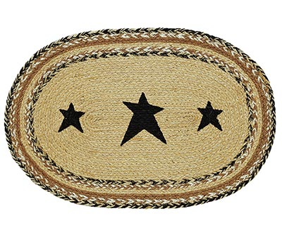 Kettle Grove Braided Placemat with Stars