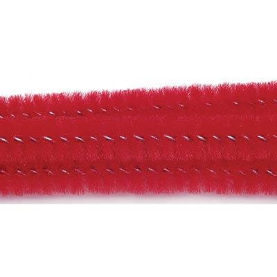 Red Chenille Stems, 6 mm (25 pack)