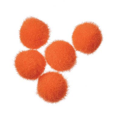 1/2 inch Pom Poms in Orange (100 pack)