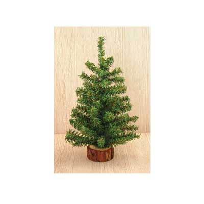 Tabletop Christmas Tree in Wood Slice - 12 inch