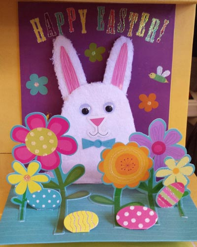 Bunny and  Flowers Pop-up Card