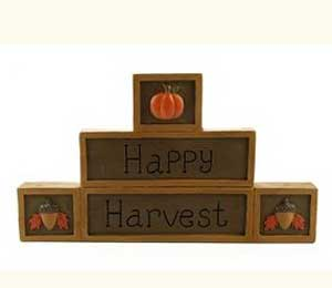 Happy Harvest Stacked Block