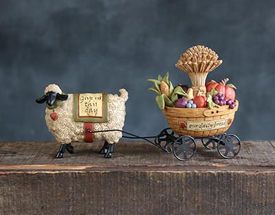 Sheep with Harvest Wagon