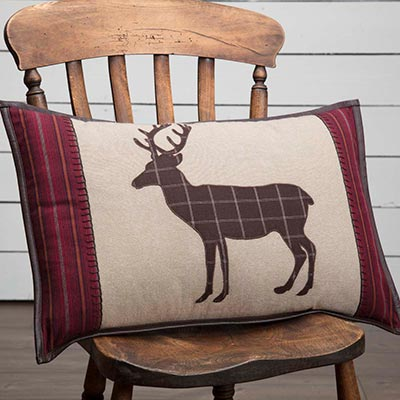 Wyatt Deer Applique Pillow (14 x 22 inch)