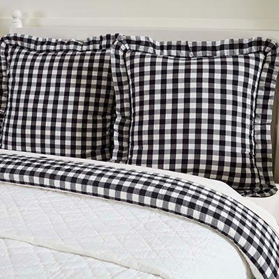 Annie Buffalo Black Check Fabric Euro Sham