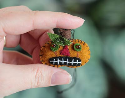 Mini Jack o'Lantern Ornament