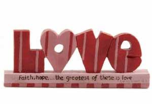 Love on Scripture Vase