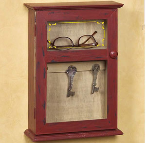 Little Red Key Cabinet
