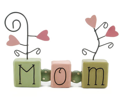 Mom Bead Block Note Holder