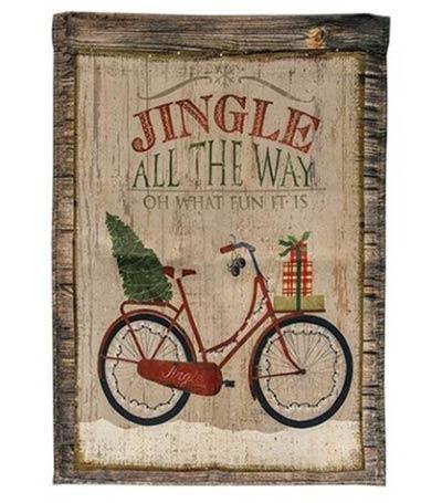 Christmas Bicycle Garden Flag
