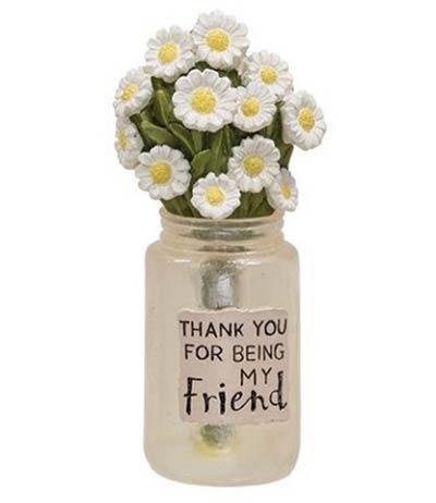 Friend Jar with Daisies