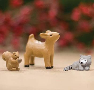 Mini Woodland Animals (Set of 3)