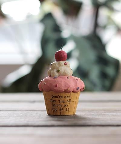 Birthday Cupcake with Cherry