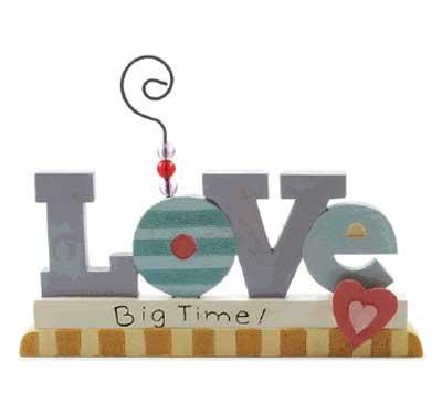 Love Bead Block Note Holder