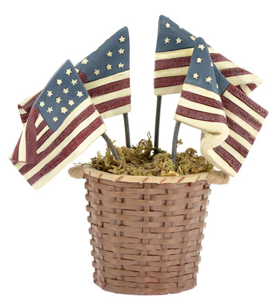 Basket of Flags