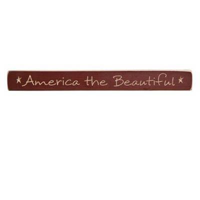 America Wood Shelf Sitter