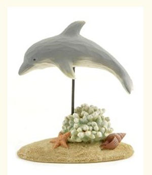 Dolphin with Coral & Shells