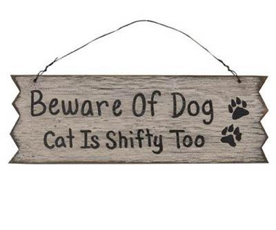 Beware of Dog & Cat Sign