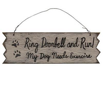 Ring Doorbell and Run Sign