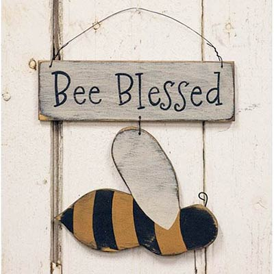 Bee Blessed Hanging Sign