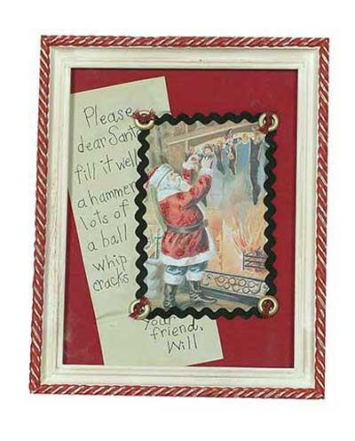 Christmas Framed Picture - Santa's List