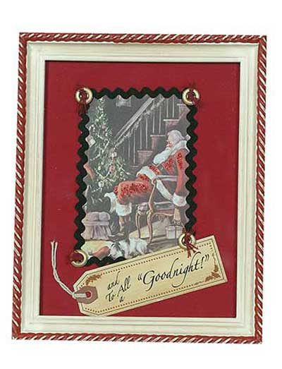 Christmas Framed Picture - To All Goodnight