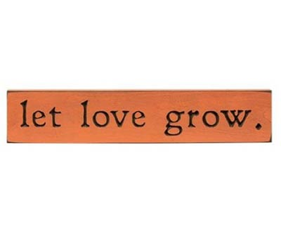 Let Love Grow 18 inch Wood Sign
