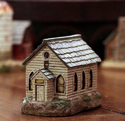 White Slate Lit House