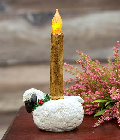 Sheep Taper Candle Holder