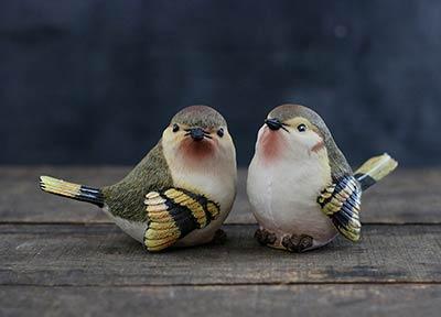 Finch Bird Figurine - Large