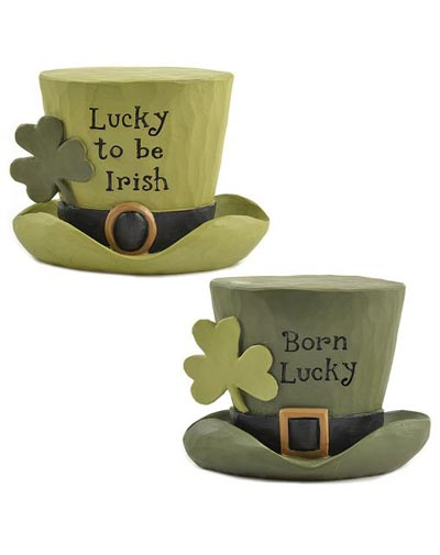 Irish Top Hat with Clover