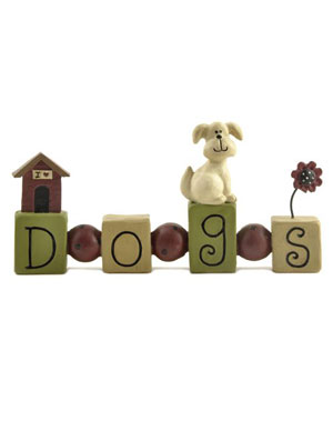 Dogs Bead Block with Dog House