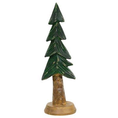 Carved Resin Alpine Tree - 6.75 inch