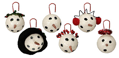 Small Snowman Head Ornament