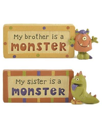 Monster Sibling Plaque