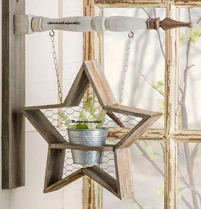 Star with Galvanized Pot Arrow Replacement