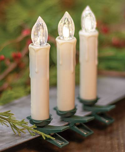 Remote Clip Battery Taper Candles (Set of 10) - Ivory