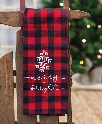 Merry & Bright Buffalo Check Dishtowel
