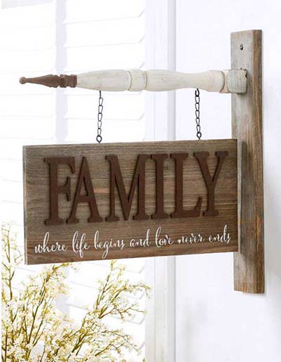 Family Barn Board Sign Arrow Replacement