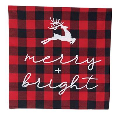 Merry & Bright Buffalo Check Pillow