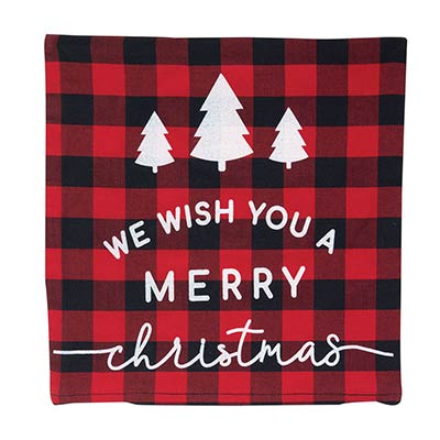Merry Christmas Buffalo Check Pillow