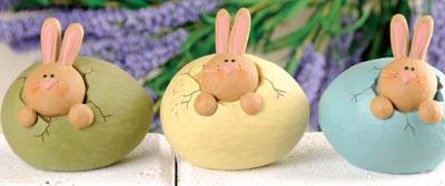 Bunny Head in Cracked Egg