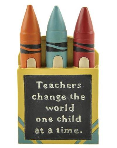 Teachers Change the World Crayon Box