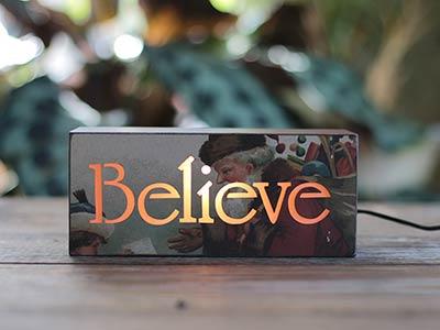 Believe Santa Light Box