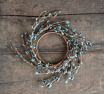 Light Blue Pip Berry Candle Ring (3.5 inch)