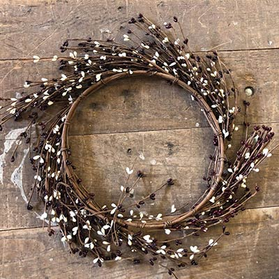 Burgundy & Cream Pip Berry Wreath (16 inch)