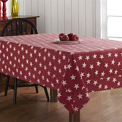 Multi Star Red Tablecloth - 60 x 120
