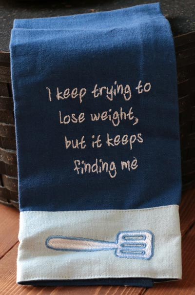Lose Weight Guest Towel